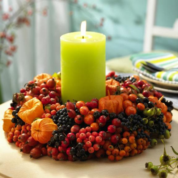 A Wreath of Festive Fall Berries