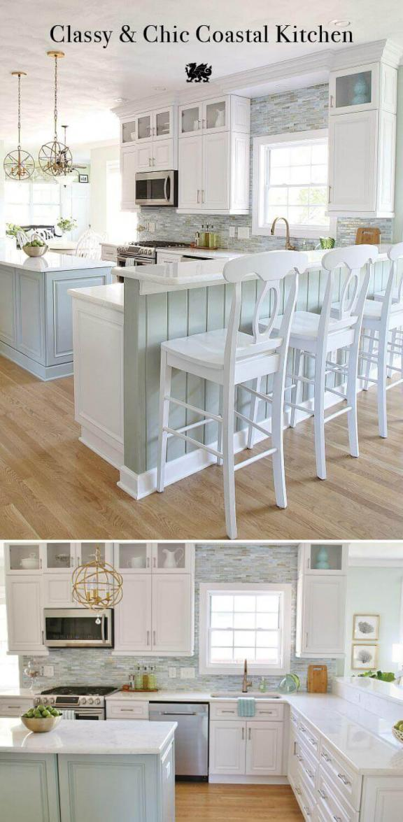 Beautiful and Bright Seascape Kitchen