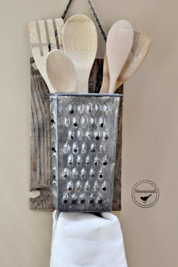 Cheese Grater Utensil Vintage Storage