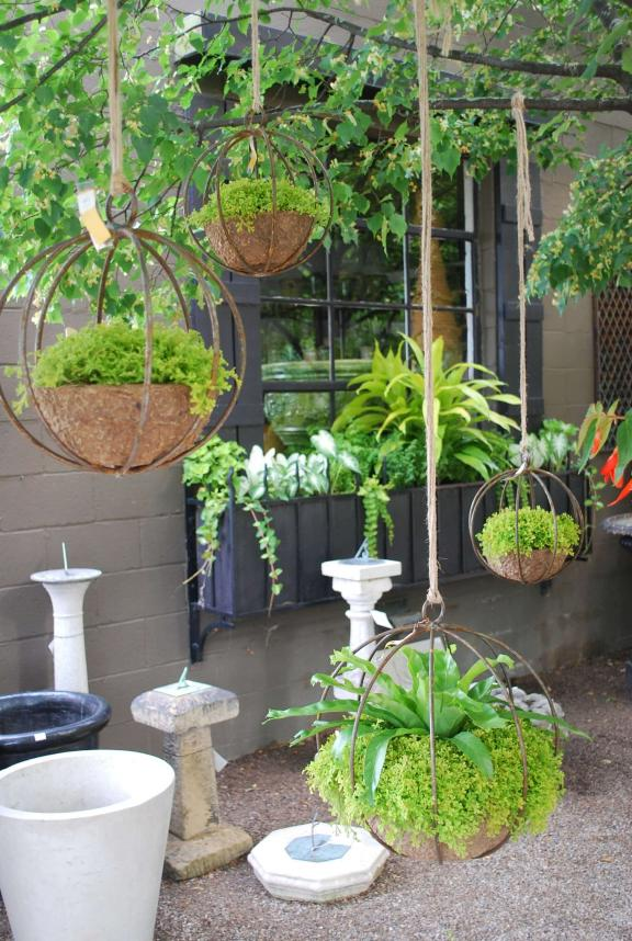 Chic Industrial Globe-Shaped Iron Hanging Planters