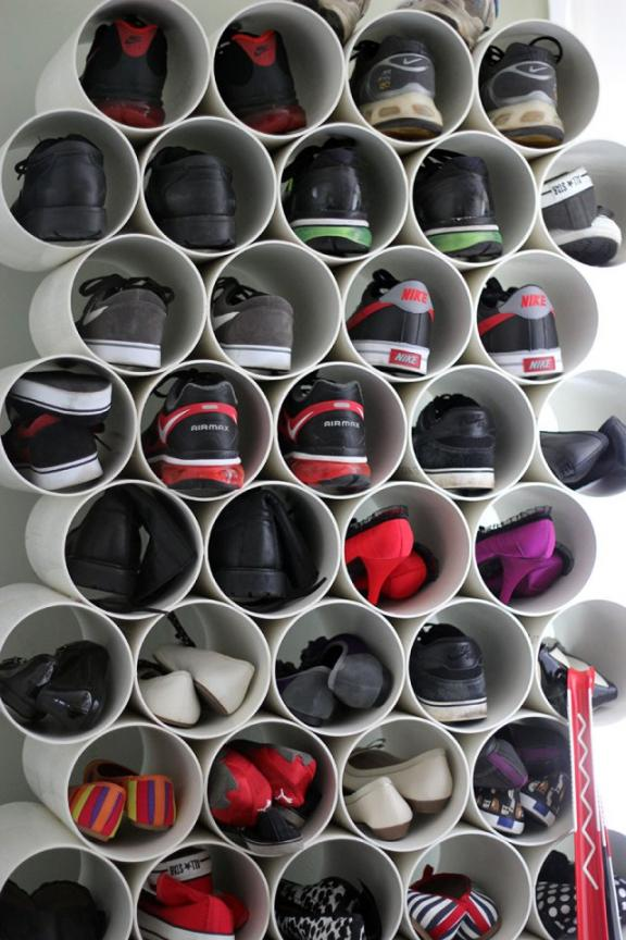Condensed PVC Shoe Holder