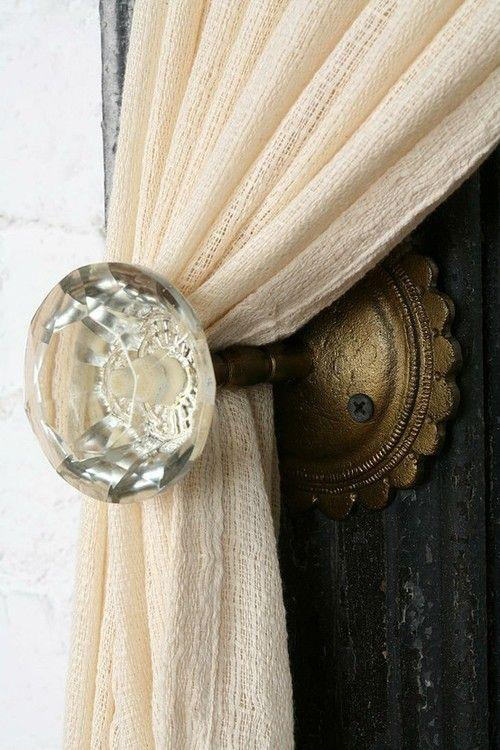 Crystal Doorknob Curtain Tiebacks