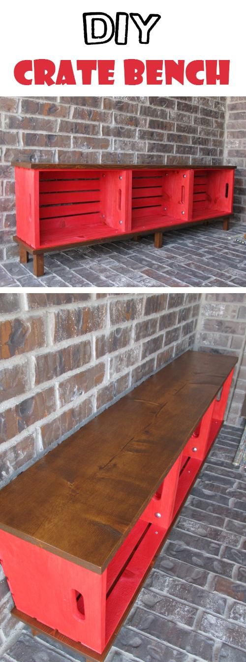 Mobiliario funcional: Crate Bench Project