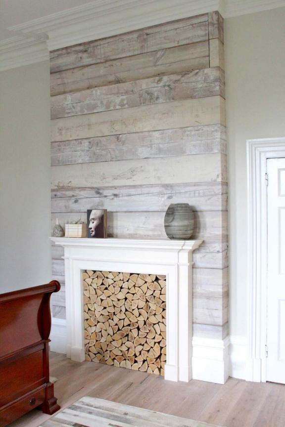 Glam Style Farmhouse Fireplace