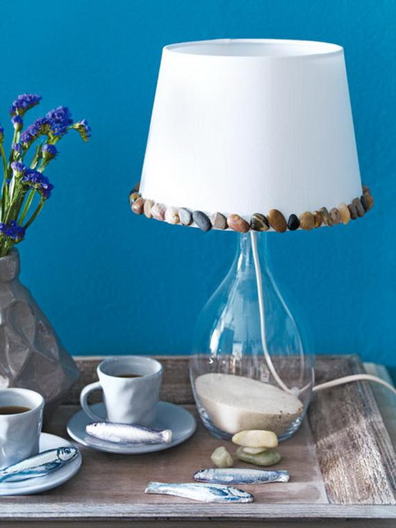 Handmade coastal lamp shade