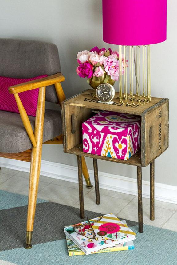 Inexpensive and Stylish Side Table