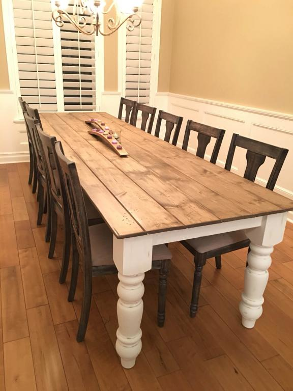 Large Panel Rustic Dining Table