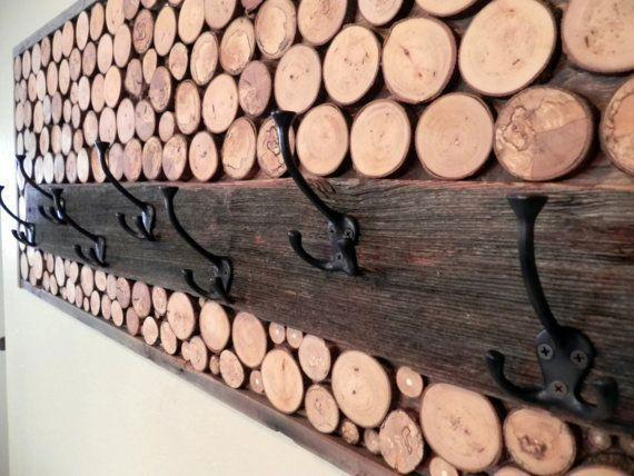 Log Cabin Inspired Coat Rack