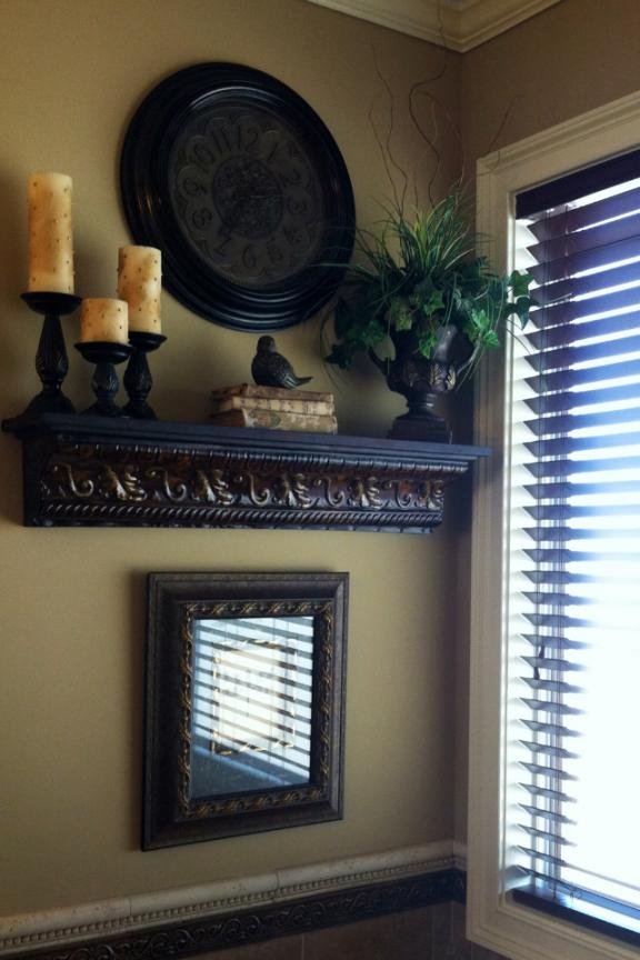 Old-world Style Rustic Shelf Display