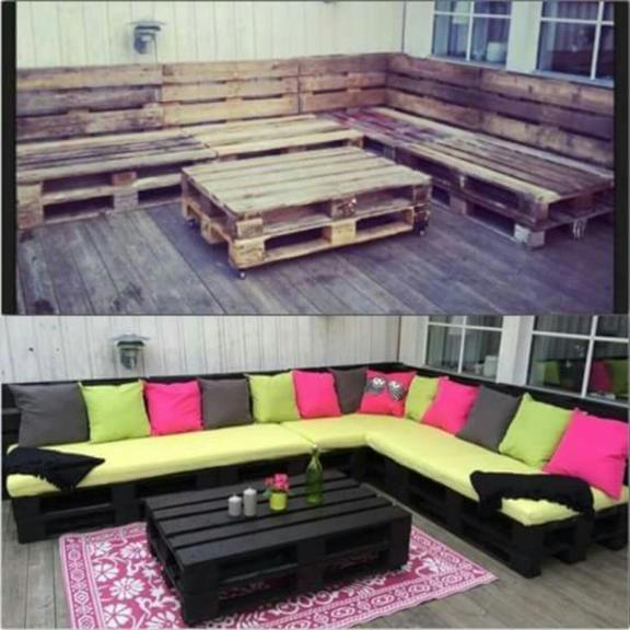 Outdoor Living Room DIY Patio Decoration and Table Set