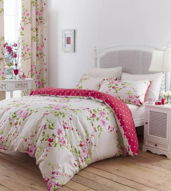 Peonies and Polka Dots Bedroom Linens