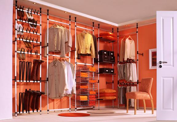 Perfectly Peachy Walk-in Closet