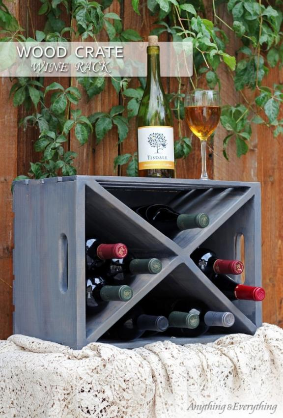 Repurposing Crates into Wine Racks
