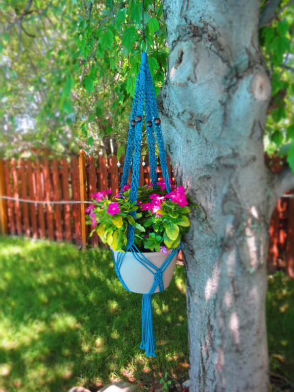 Retro Macrame Hanging Flower Pot