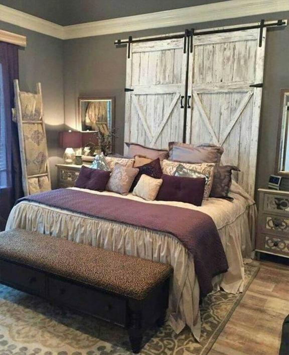 Royal Country Farmhouse Bedroom Design Ideas
