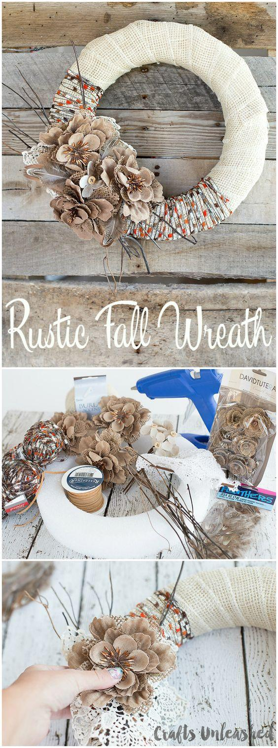 Rustic Fall Wreaths are Cozy yet Elegant