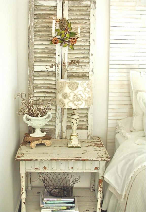 Paralume fiore in tessuto shabby chic