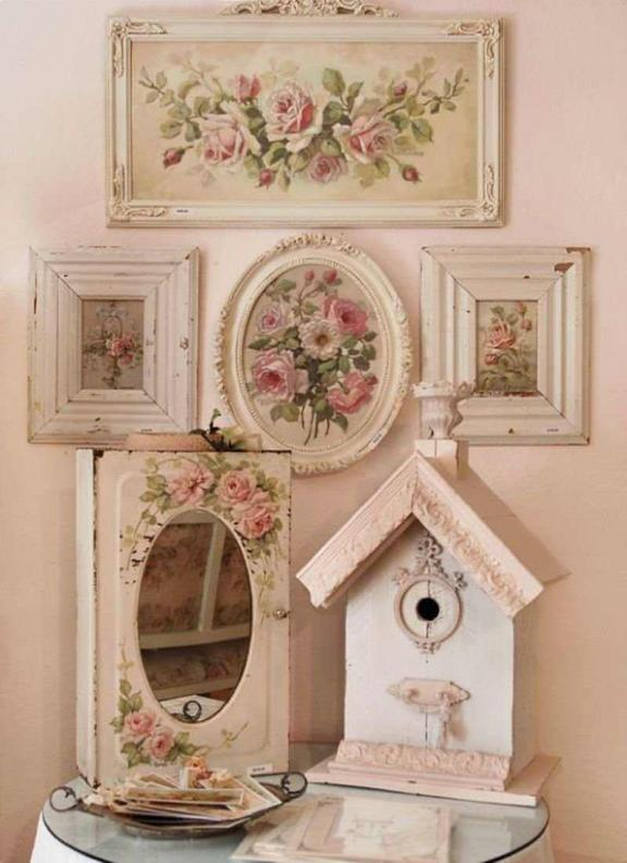 Shabby Chic Gallery Idea de decoración de pared