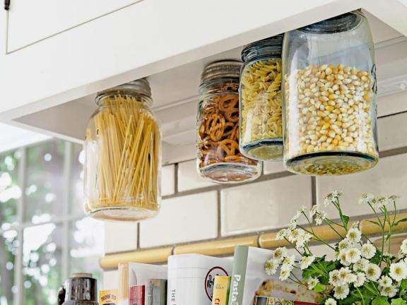 Use Magnets on Jar Lids to Easily Create Floating Storage