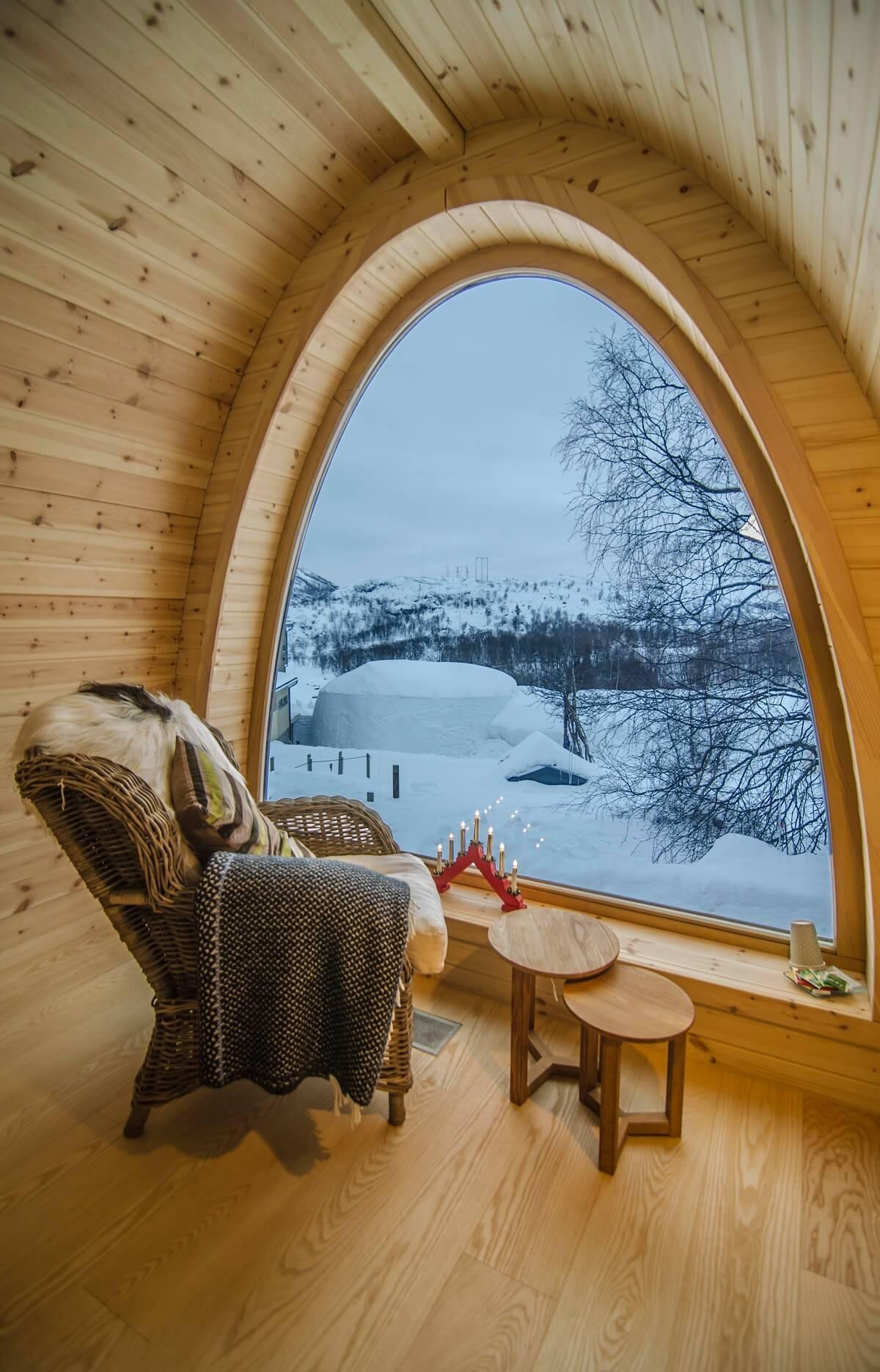 A Cozy Place with a Winter Wonderland View
