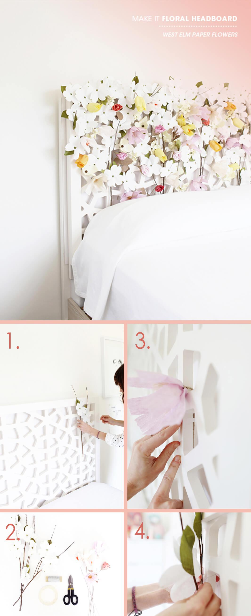 "A ""Scentual"" Floral Lattice Headboard"