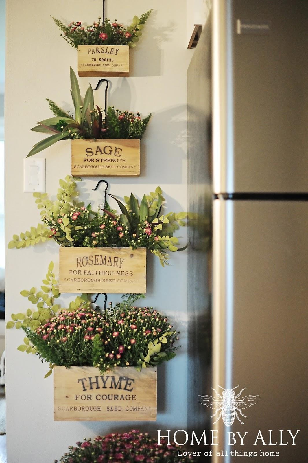 A Vertical Garden Idea for the Kitchen