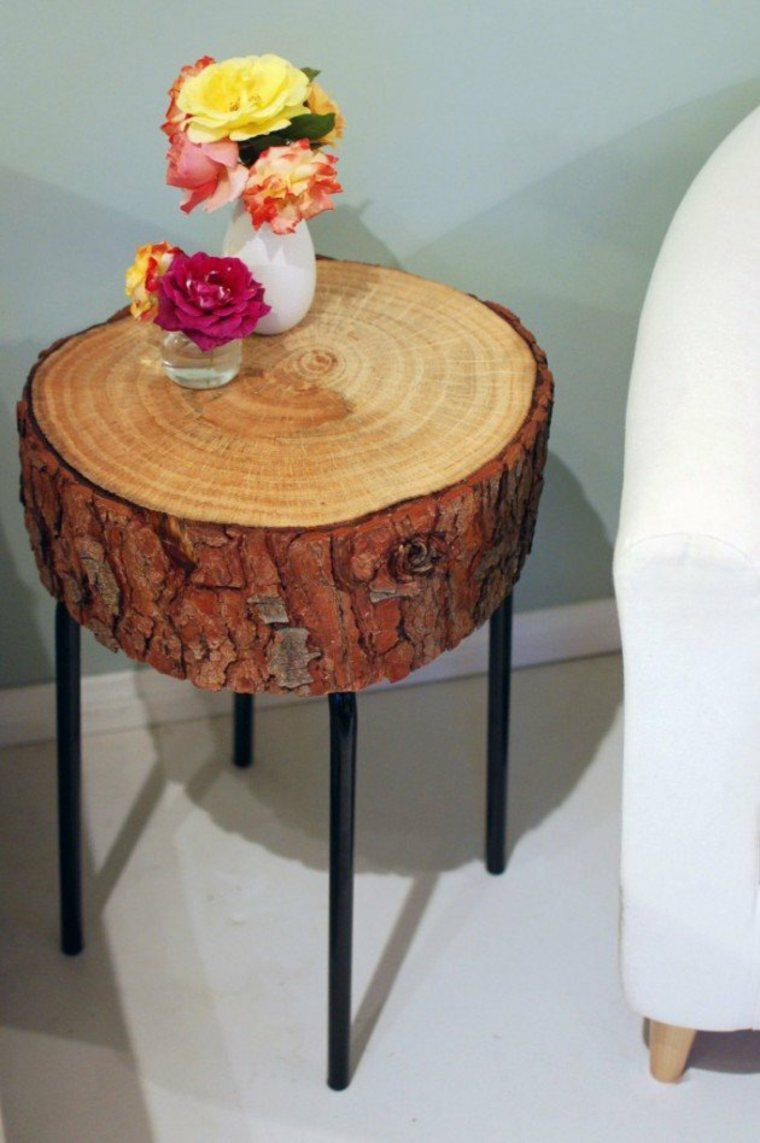 Aged Oak Hardwood End Table