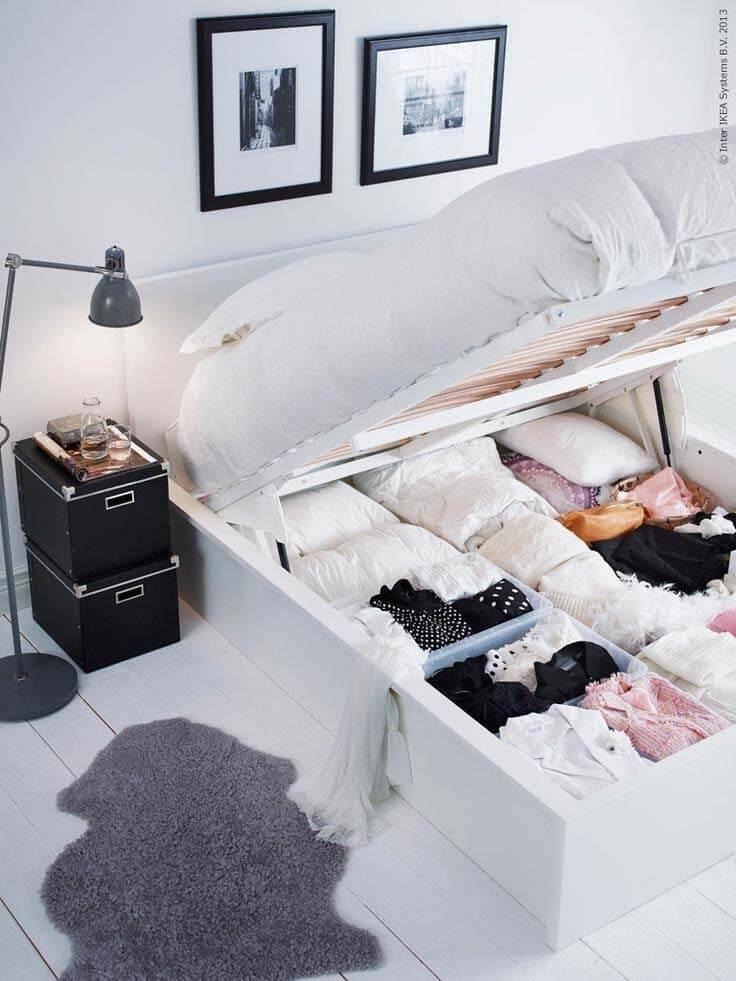 Ample Storage Space Underneath the Bed