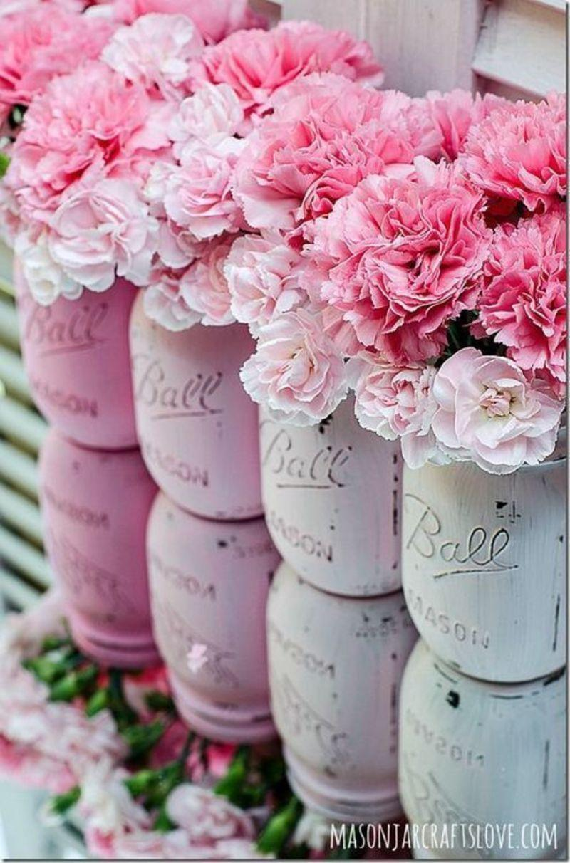 Barely Pink Chalk Painted DIY Shabby Chic Decoration Ideas