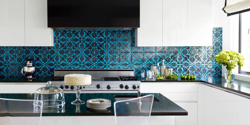 Blue and Black Tile