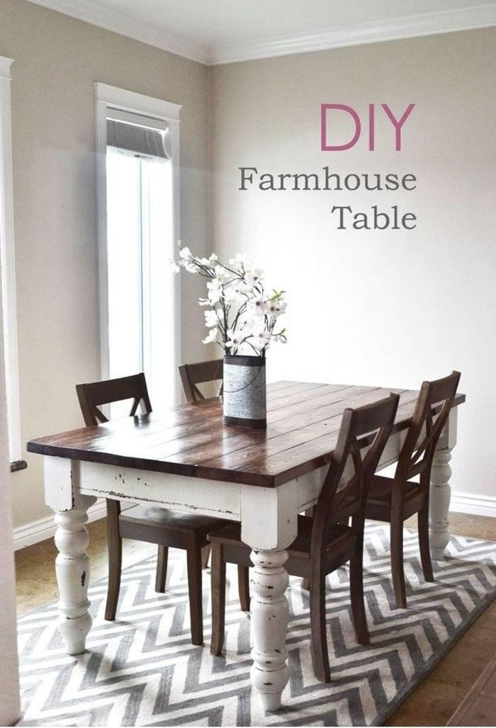 Build Your Own Rustic Chic Farmhouse Table