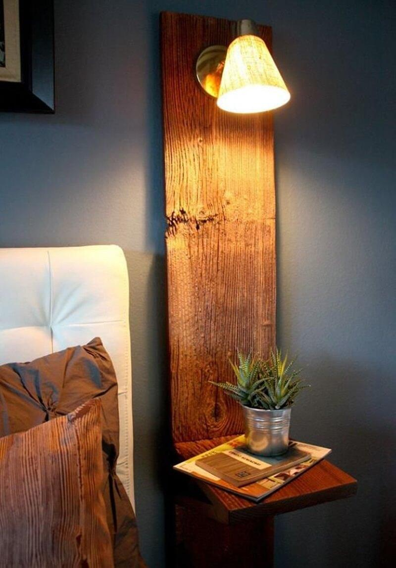Built-in Nightstand with Soft Warm Lighting
