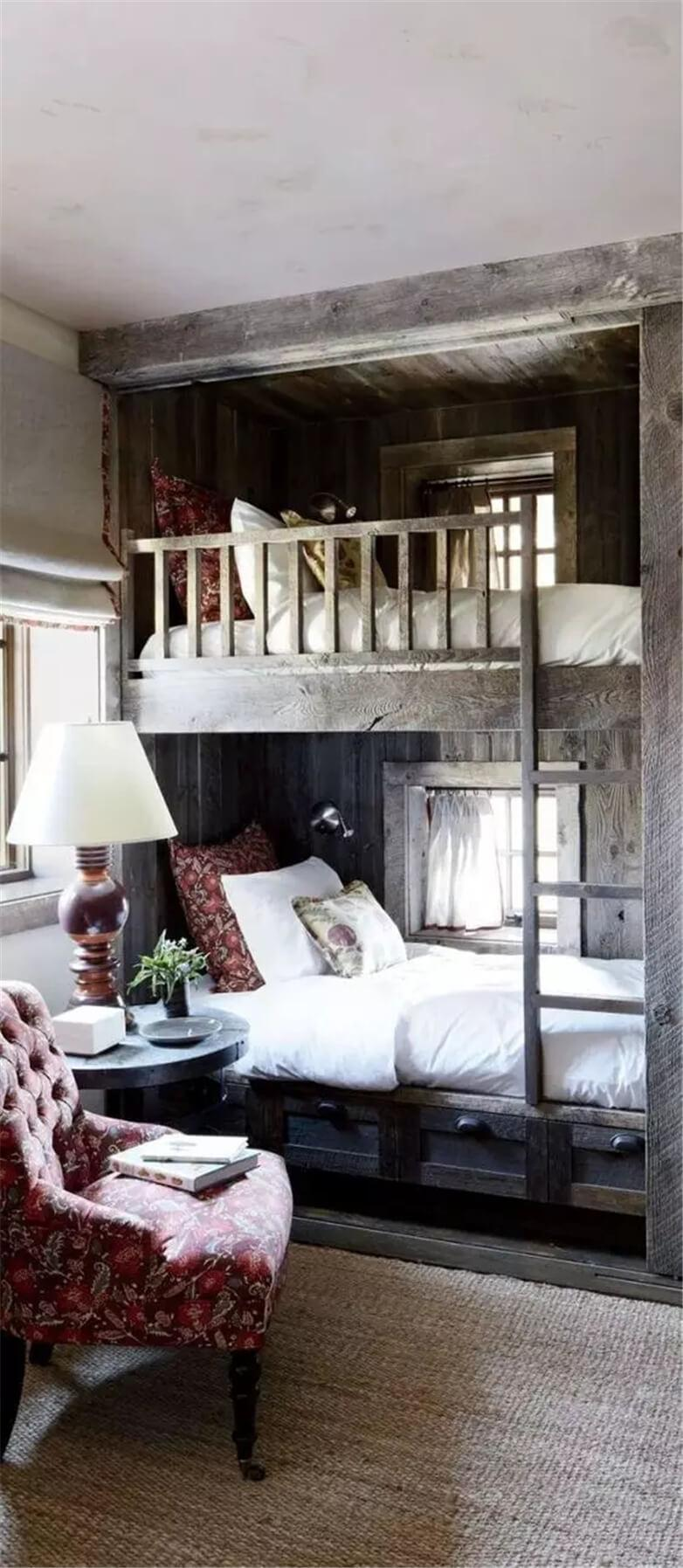 Bunk Beds with a Chair for Reading