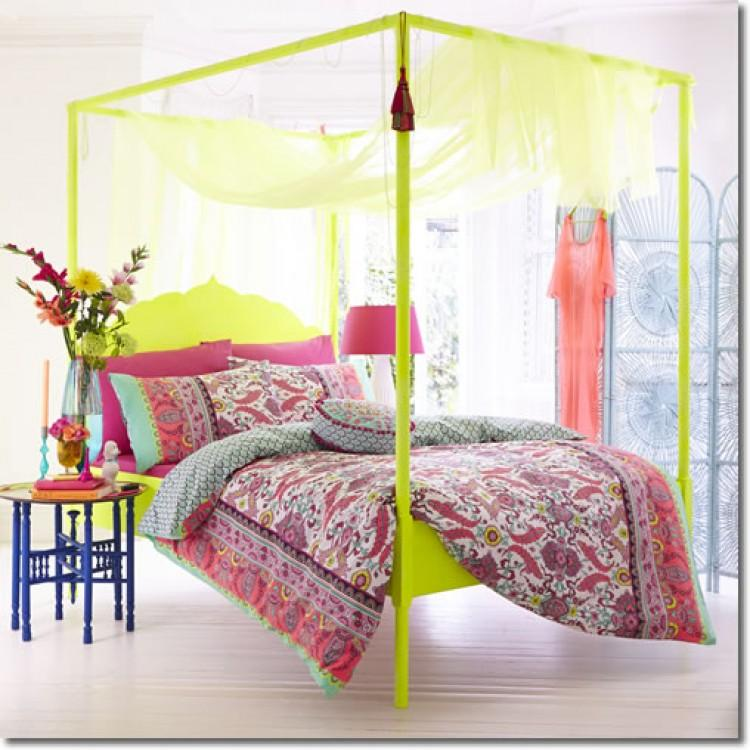 Colorful Canopies Picture of Bedroom Decor