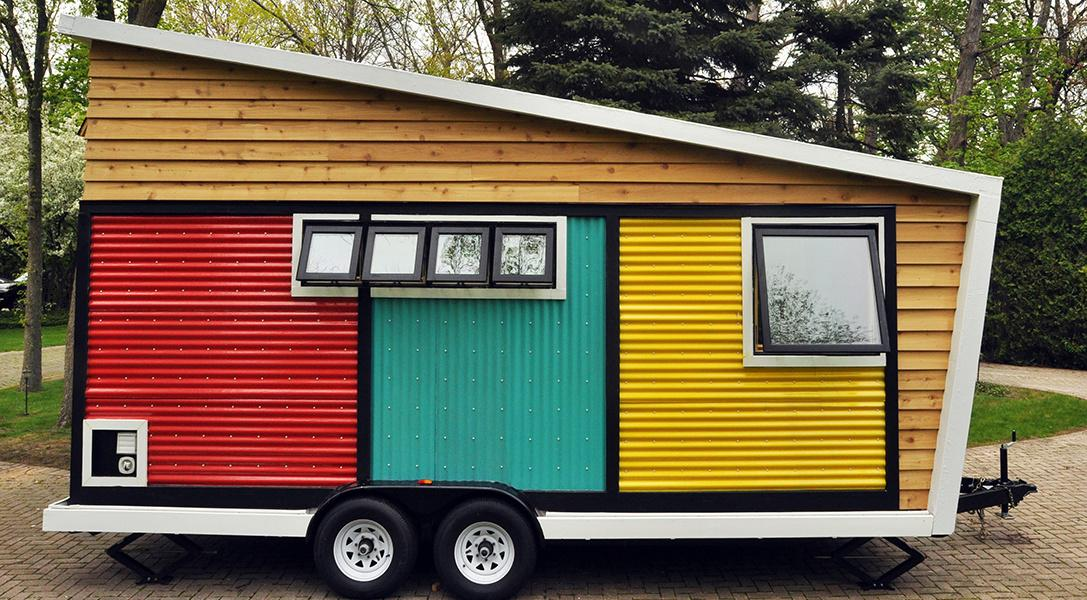 Colorful Trailer on the Go