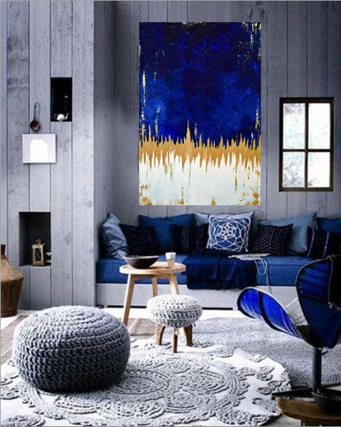 Cool Blue Living Room Decor Idea