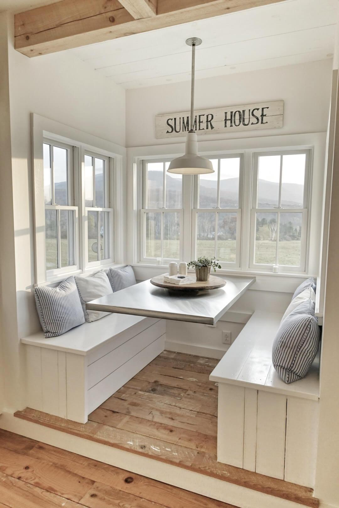 Cozy and Cushy Breakfast Nook
