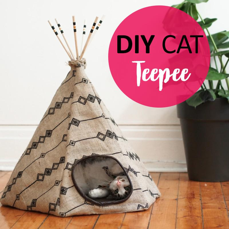 DIY Cat Teepee Bed and Hiding Spot