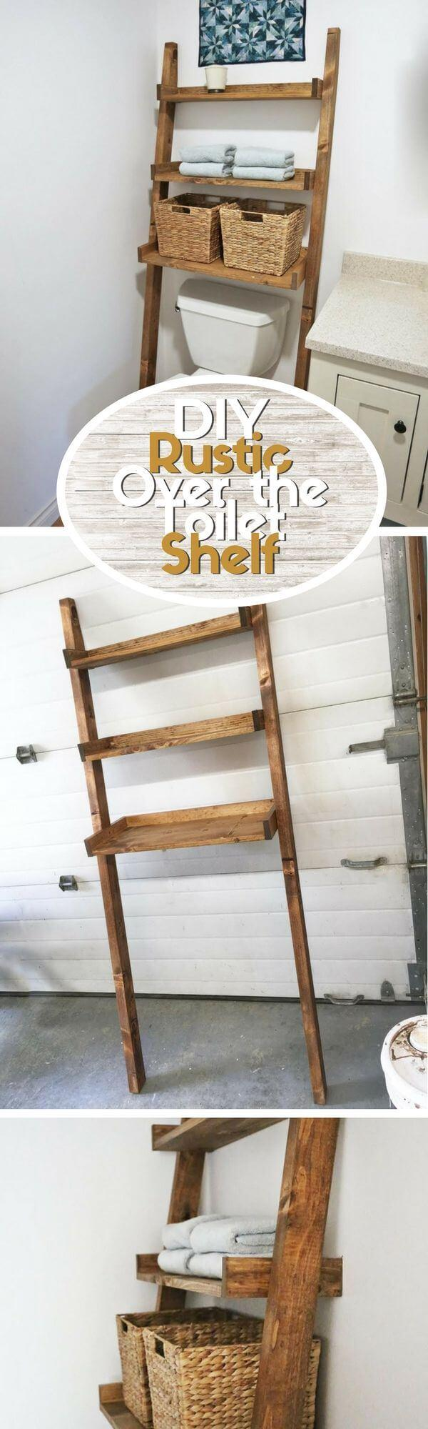 DIY Pallet Over-The-Toilet Shelf