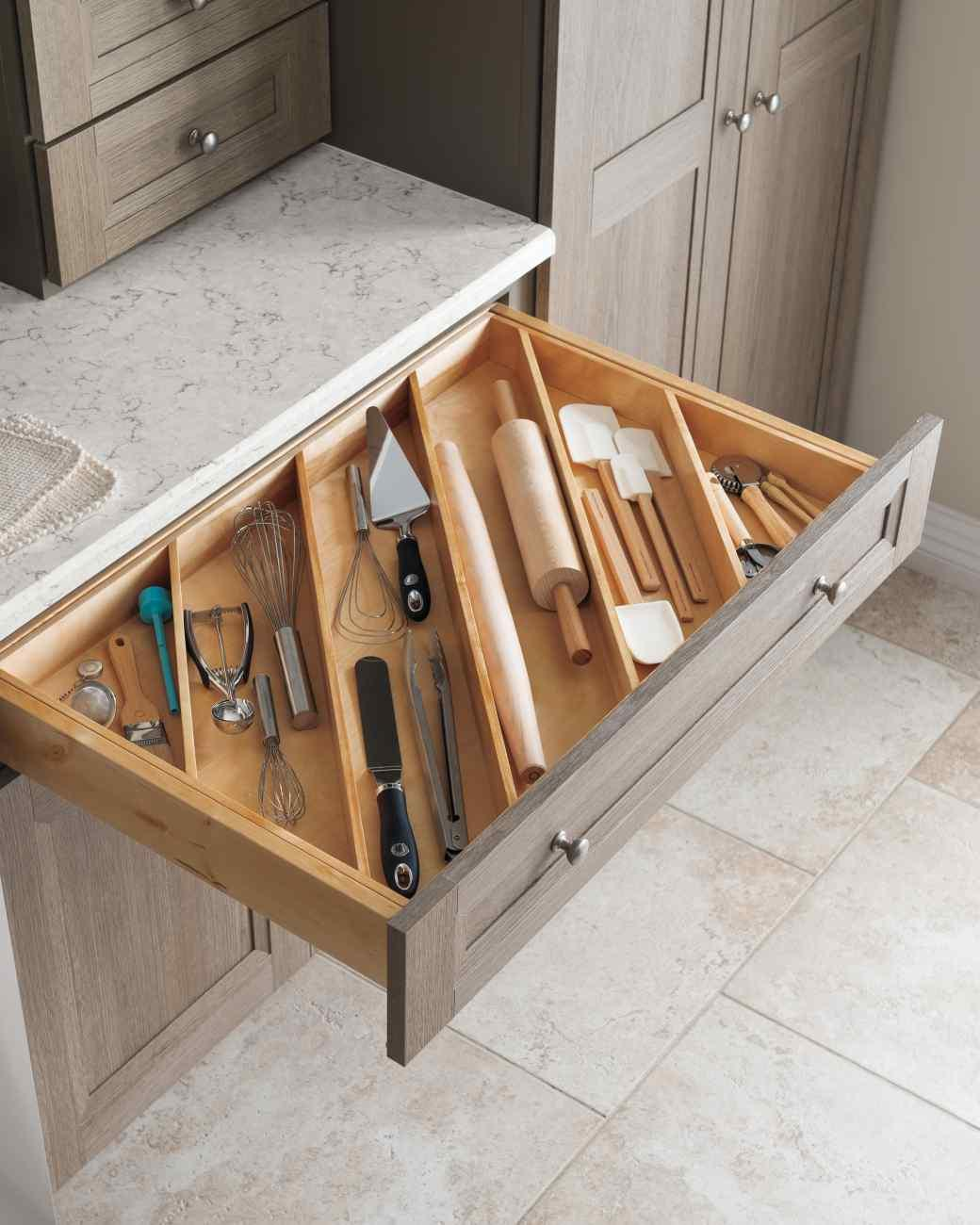Divide Drawers Diagonally to Store More Items in Narrower Drawers