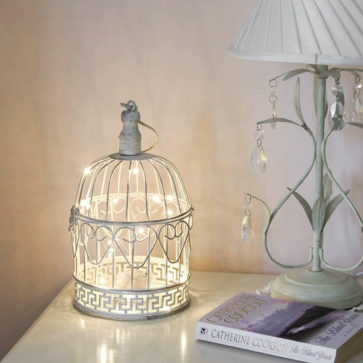 Easy DIY Antique Birdcage Lamp