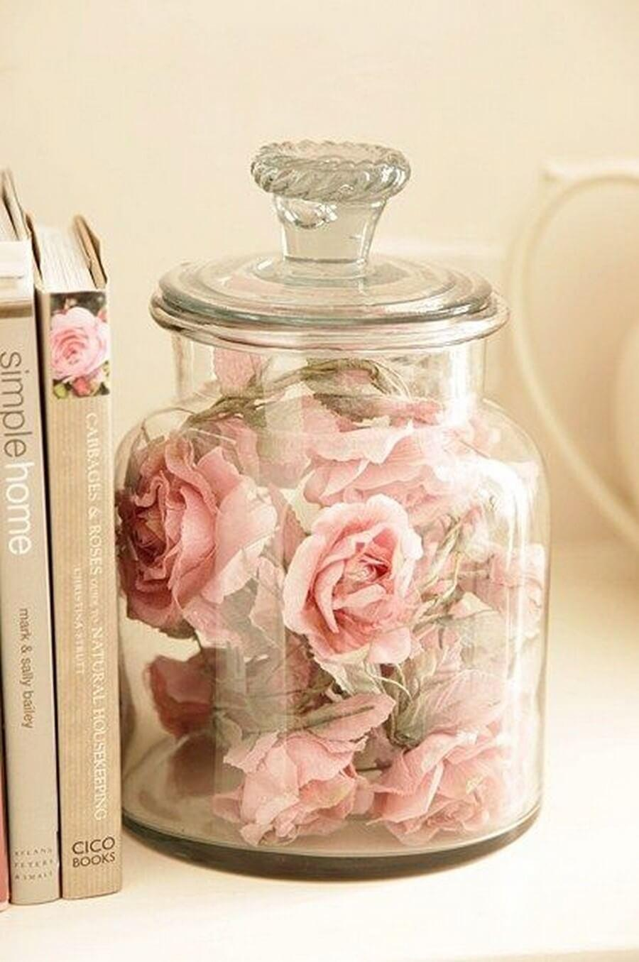 Easy DIY Faux Flower Jar Decoration