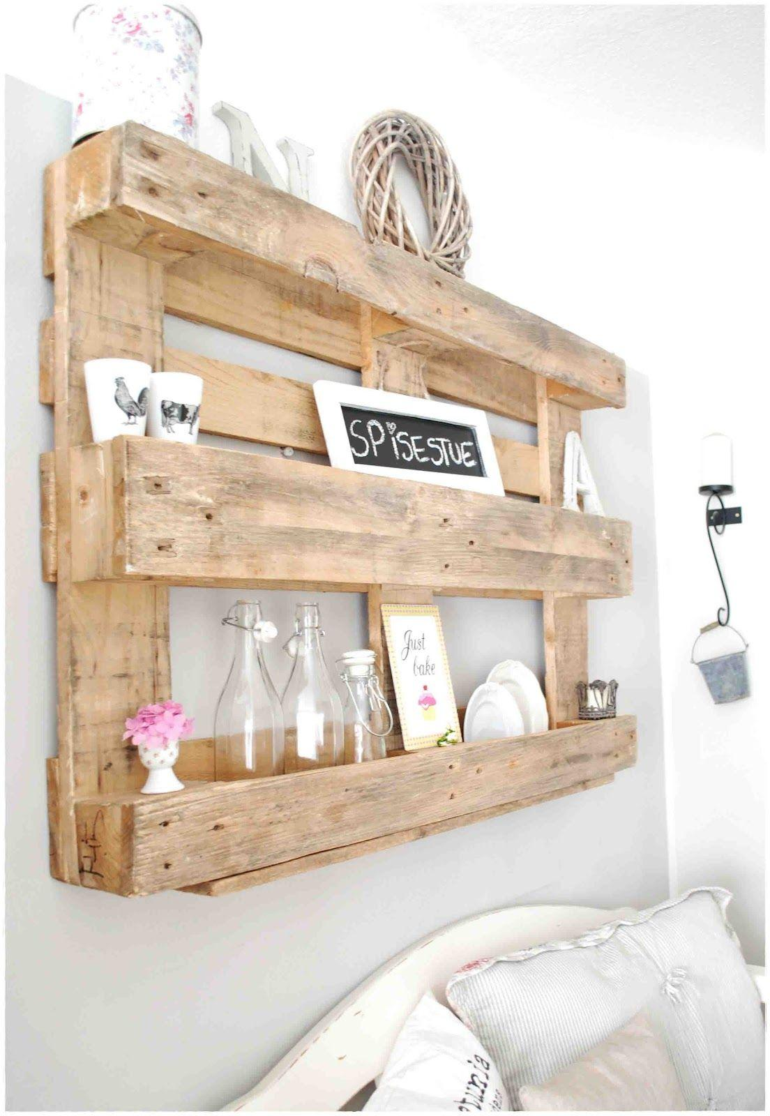 Easy Rustic Wood Shelving