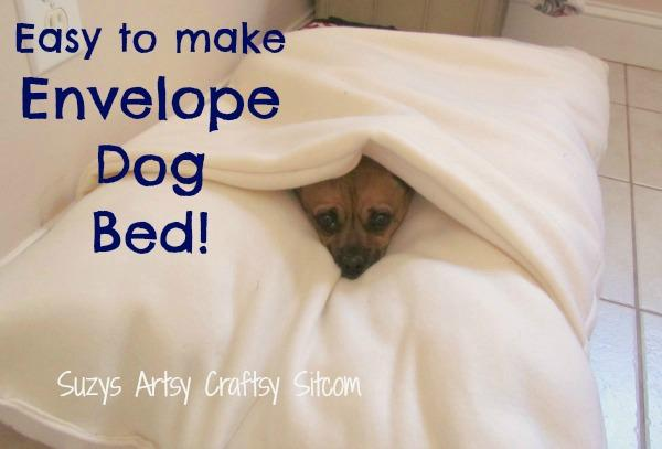 Easy-to-sew Envelope Bed for Snuggly Dogs