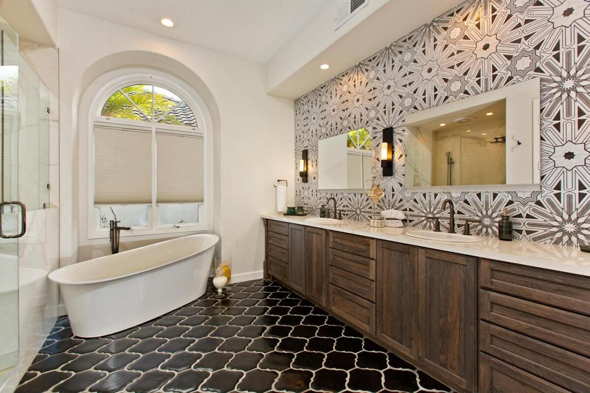 Eclectic and Classy Bathroom