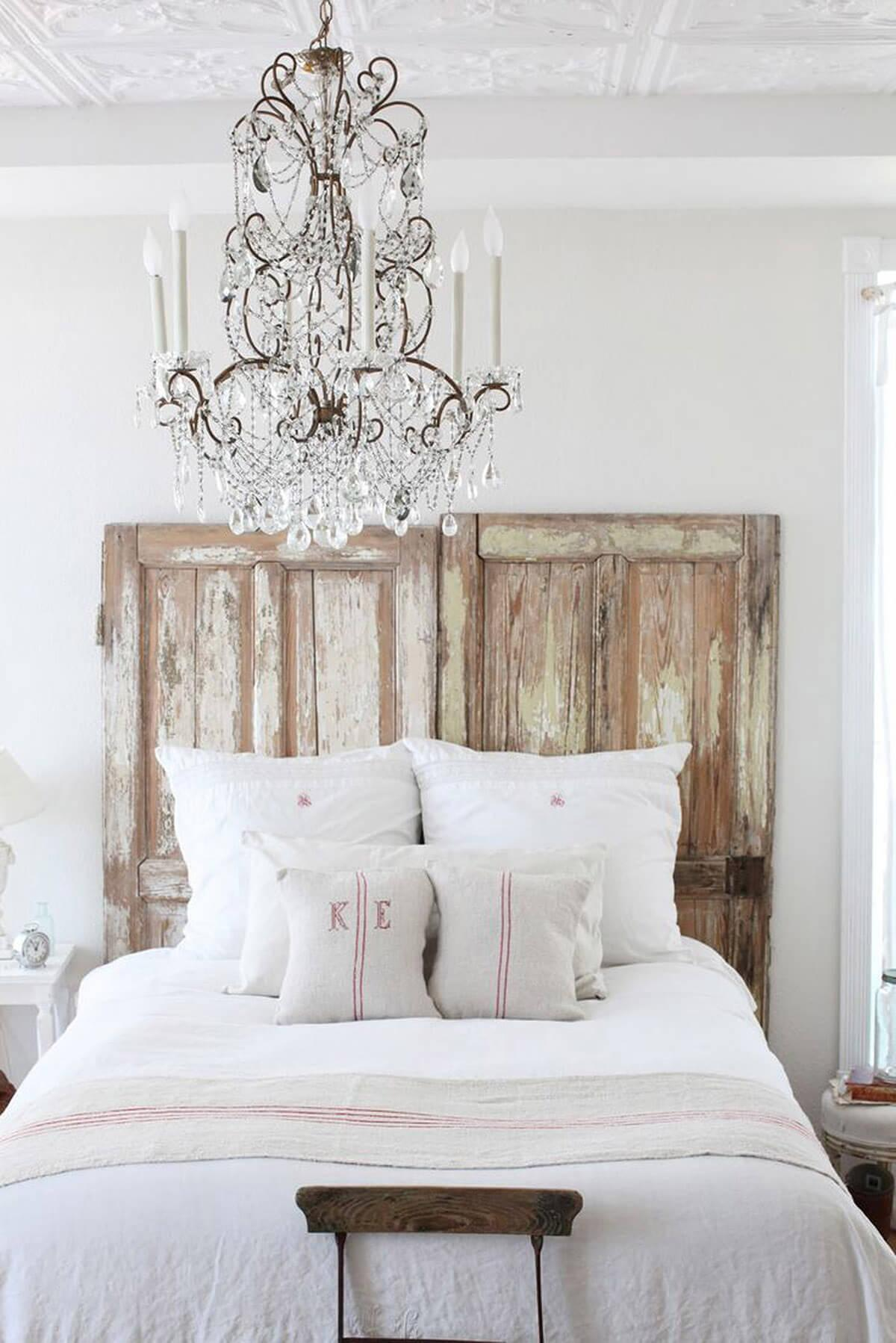 Fanciful Farmhouse Repurposed Barn Door Head Board
