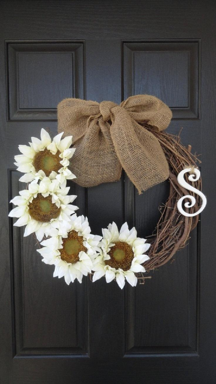Floral door wreath