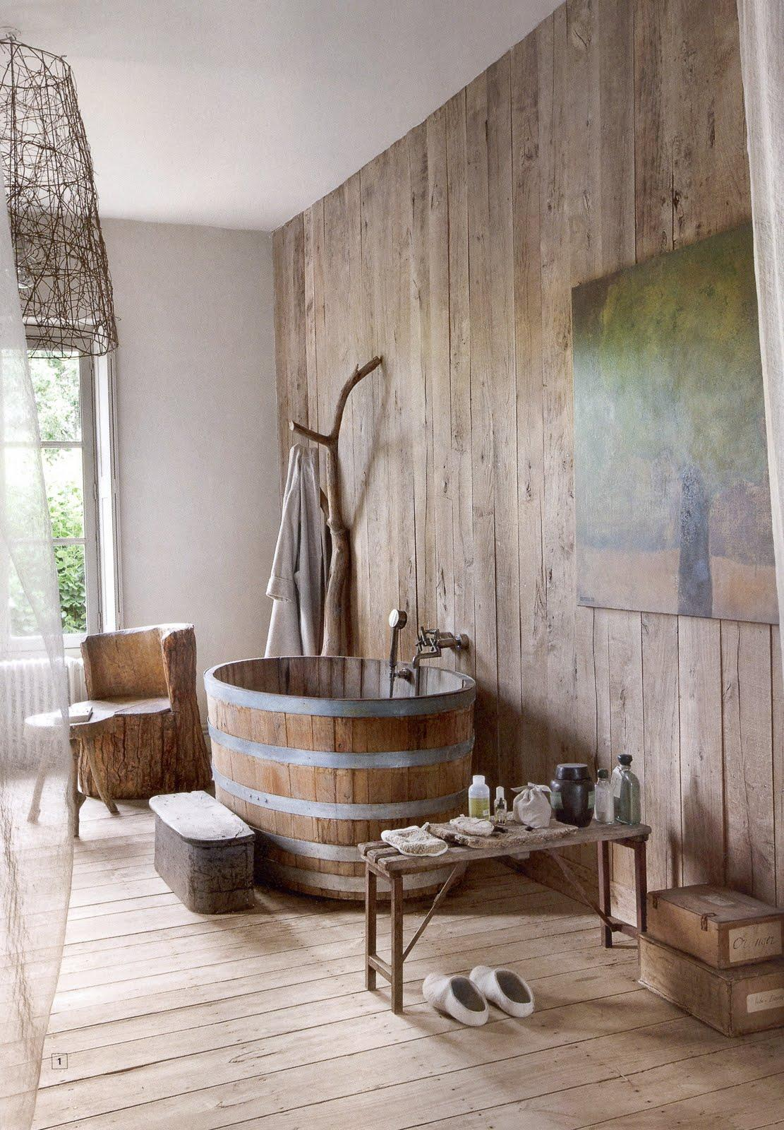 Giant Half-barrel Soaking Tub