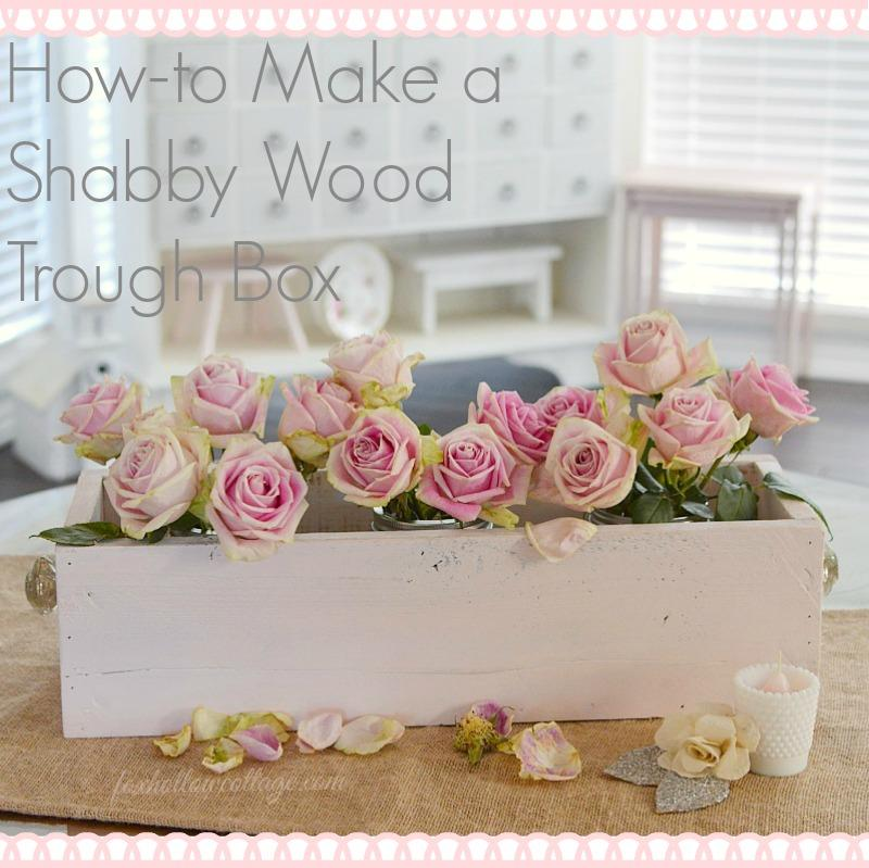 GreatShabby Painted Wood Trough Box