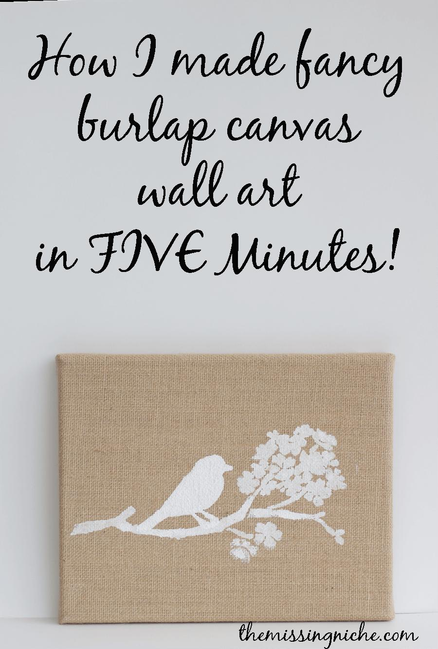 Green Belt Gallery Burlap Wall Art